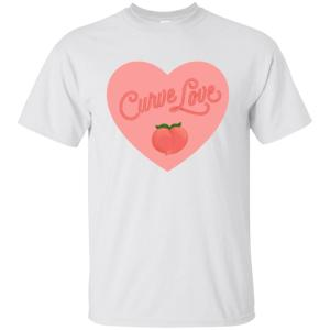 Curve Love Classic Fit Cotton T-Shirt in White from AllGo's merch store featuring plus size statement apparel and more