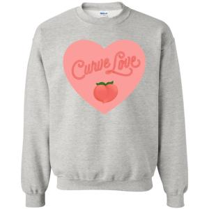 Curve Love Classic Fit Crewneck Sweatshirt in Ash from AllGo's merch store featuring plus size statement apparel and more
