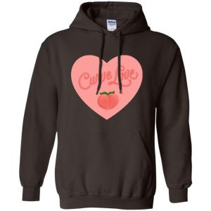 Curve Love Classic Fit Hoodie Sweatshirt in Dark Chocolate from AllGo's merch store featuring plus size statement apparel and more