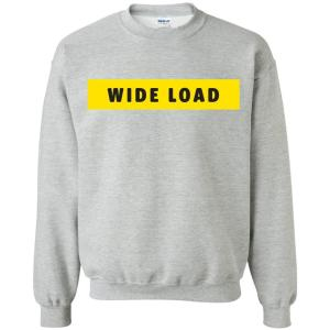 W I D E L O A D Classic Fit Crewneck Sweatshirt in Sport Grey from AllGo's merch store featuring plus size statement apparel and more