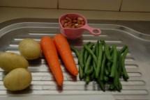 Veggies and peanuts