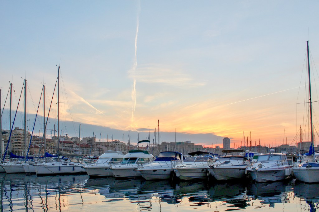 Marseille Vieux Port at Sunset