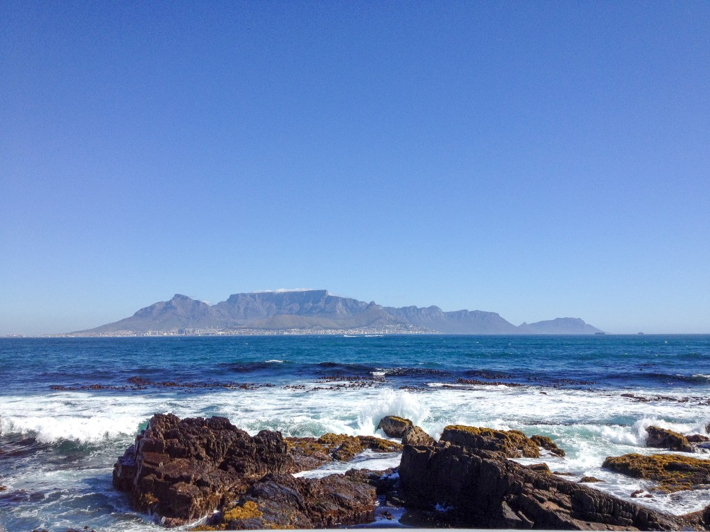 Cape Town, South Africa - View of Table Mountain from Robben Island