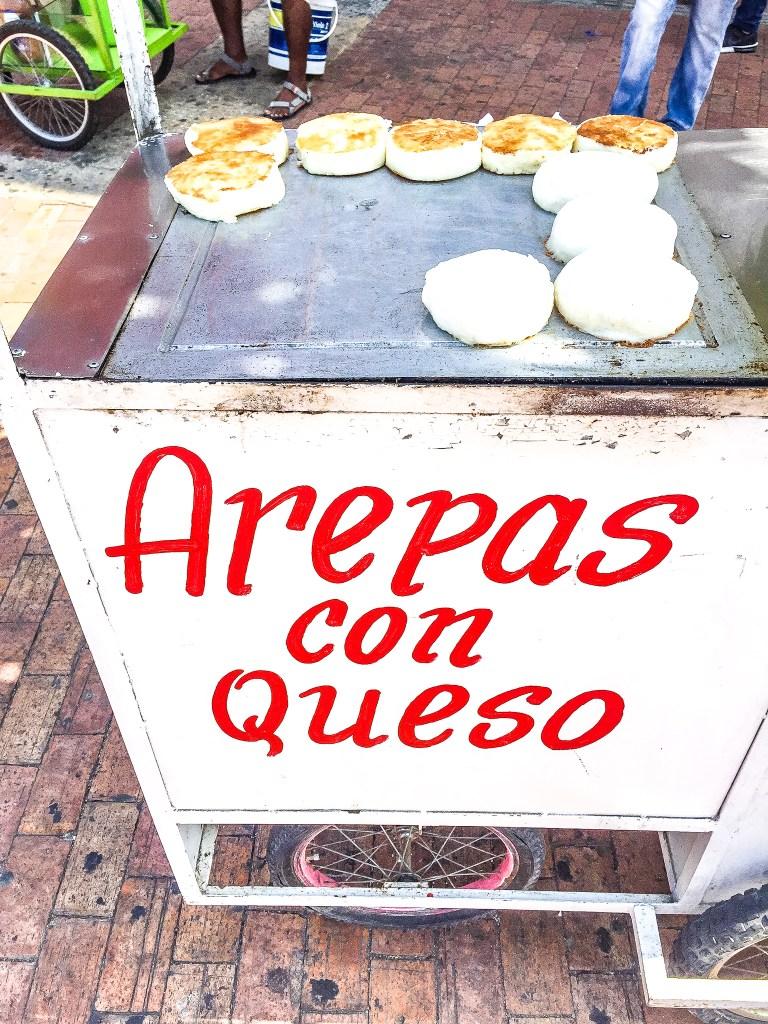 Arepas con Queso in Cartagena, Colombia