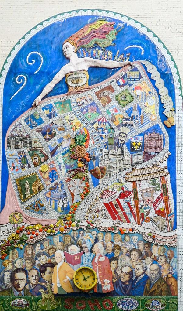 Spirit of Soho Mural - Clock - London