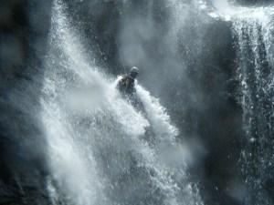 Rappel d'une des cascades de Setti Fatma dans la région de Marrkech.