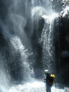 Bas d'une des cascades du canyon Setti Fatma.