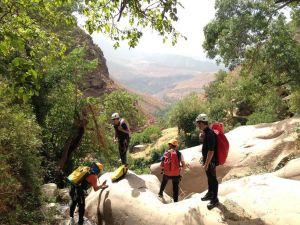 Vue du haut du canyon de Tazitounte.