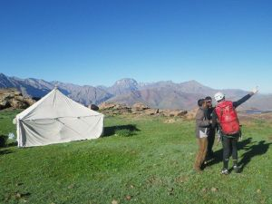 Biwak während des canyon Yagour.