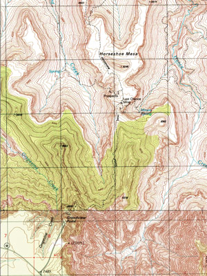 Graphic of Grandview Trail topo map