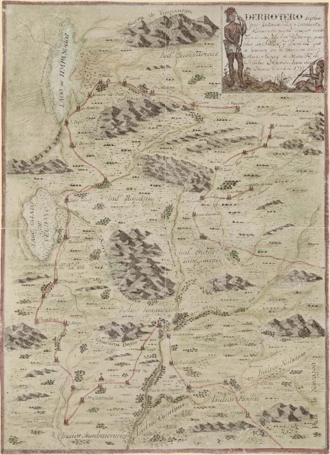 Expedition map by Father Escalante, 1777