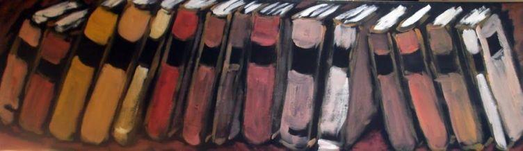 'Libros horizontales'. Obra de Manuel Martín Morgado.