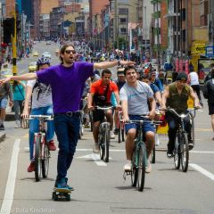 Ciclo-vía de Bogotá: la ciudadanía toma la calle