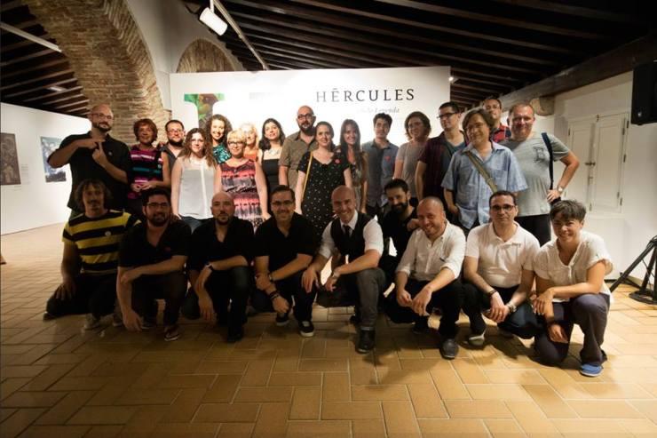 Los participantes en 'Hércules. Redibujando la leyenda'.
