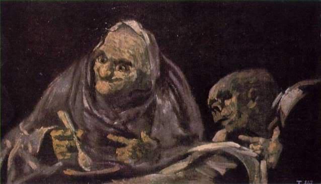 'Dos viejos comiendo sopa', de Francisco de Goya.