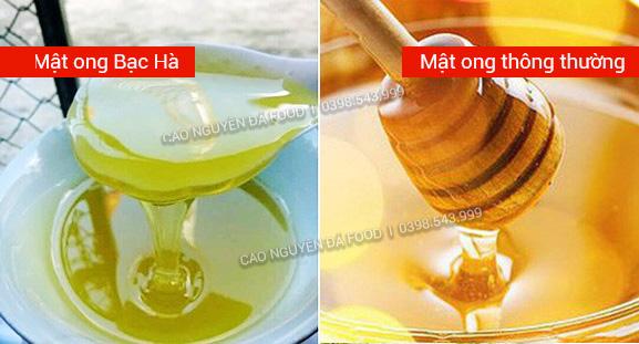 mật ong bạc hà khác với mật ong thường