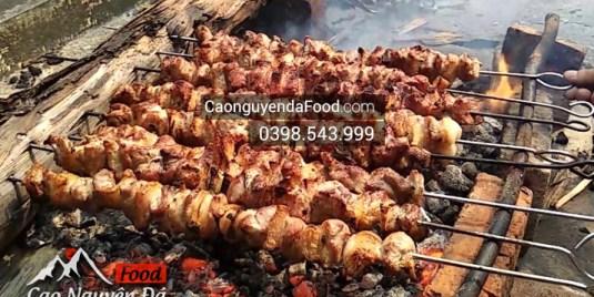 thịt lợn nướng hạt mác khén