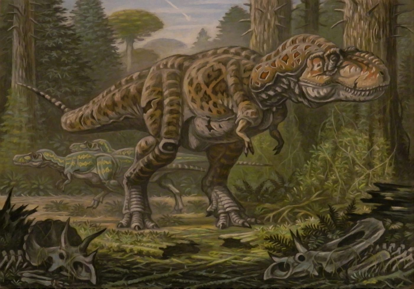 Mesozoico según paleoarte.