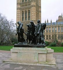 The_Burghers_Of_Calais_Statue,_Westminster_-_London.