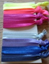 FOE hair bands capability mom, hair ties, stretchy hair ties, pony tails, elastic, fold over elastic hair ties, trendy ties,