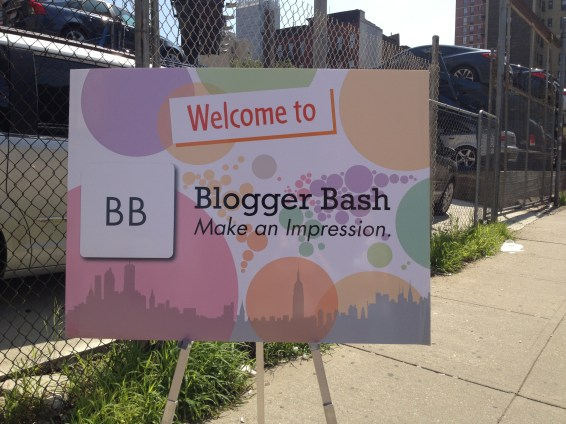 Welcome sign to Blogger Bash -