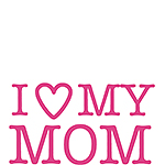 PaperSource's I love my mom stamp