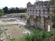 Thermes du nord à nice palestre et mur du frigidarium