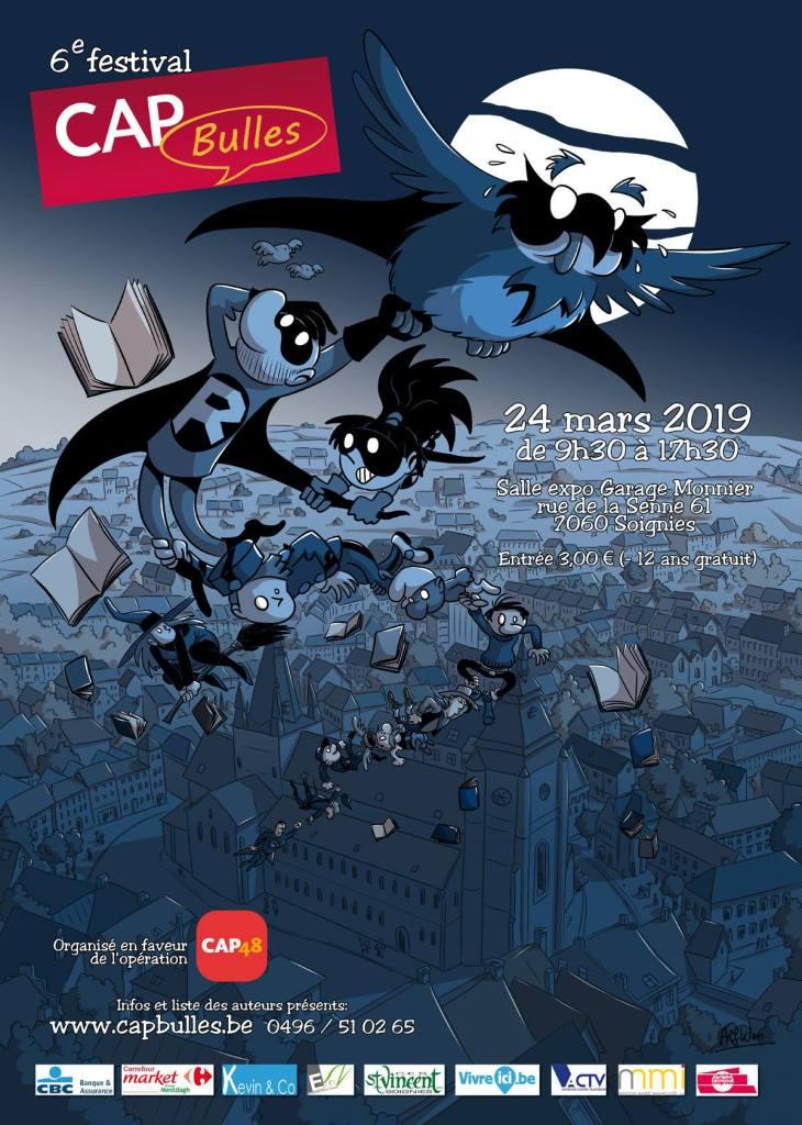 L'édition 2019 de CAP Bulles CAP48 le 24 mars à Soignies