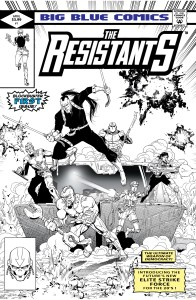The Resistants Black and White exclusive G.I. Joe homage cover