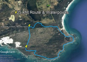 35 Km Route & Waterpoints