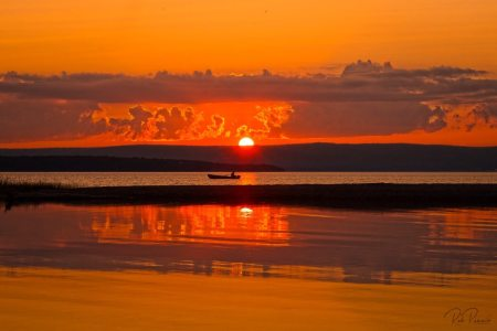sunset at Lake-Ainslie, Cape-Breton