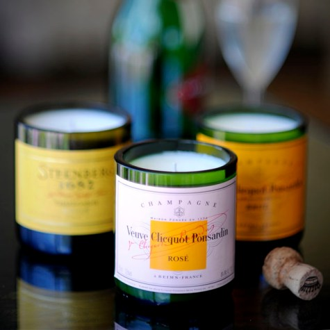 Veuve Clicquot champagne candles