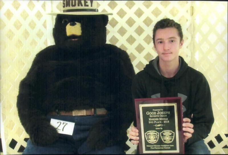 Milton Fire Department Recognizes Student Contest Winners