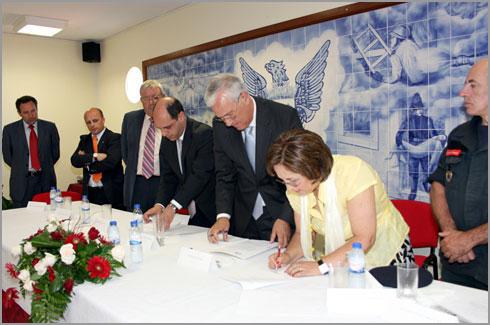 Assinatura do Protocolo entre os Bombeiros Voluntários do Soito e o INEM
