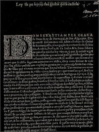 Frontispício da Lei da Passagem de Gado de 1564