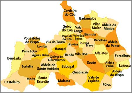 novo mapa de freguesias de portugal Censos 2011 – Resultados oficiais | Capeia Arraiana – Sabugal  novo mapa de freguesias de portugal