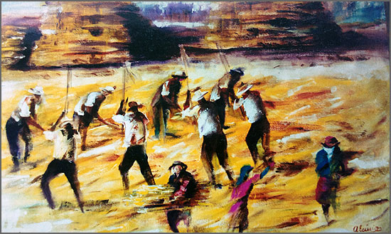 Malha - pintura de Alcínio