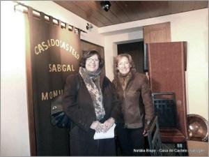 Tzipora Rimon, embaixadora de Israel, com Natália Bispo na Casa do Castelo do Sabugal