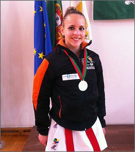 Rita Morgado com a medalha de prata