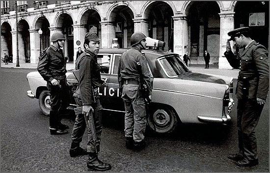 O capitão Salgueiro Maia no dia 25 de Abril de 1974