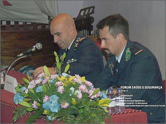 Tenente-coronel Rasteiro e alferes Fernandes, representaram a GNR