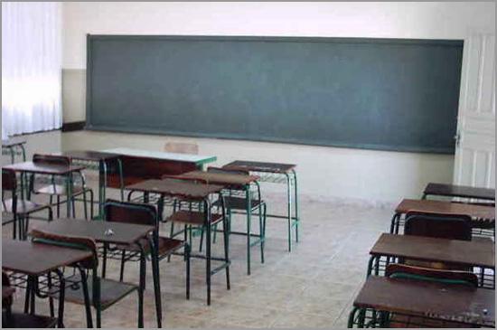 Salas de aula vazias