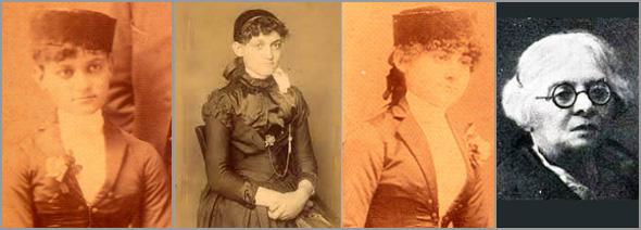 Pioneiras da Medicina em Portugal - Da esquerda para a direita - Aurélia de Moraes Sarmento, Laurinda de Moraes Sarmento, Guilhermina de Moraes Sarmento e Amélia Cardia - Capeia Arraiana
