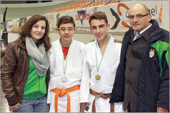Carla Vaz - Bernardo Pires - Emanuel Martins - David Carreira (Judo do Sporting Clube do Sabugal)