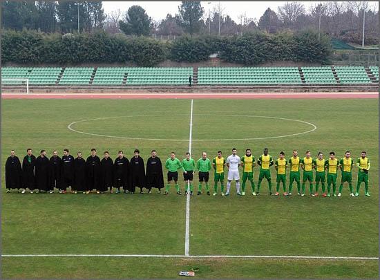 As equipas no início do jogo