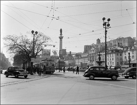 Baixa de Lisboa em 1940