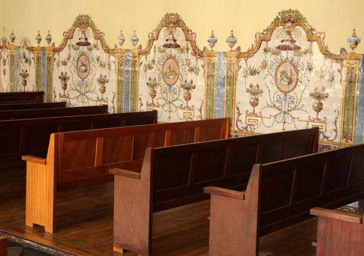 Pormenor de uma sala de audiências no Tribunal da Boa Hora