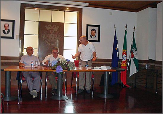 Albino Lopes na apresentação do livro de Tenreira Martins no Sabugal