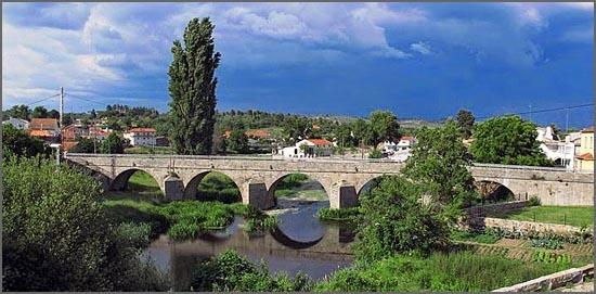 Ponte da Cerdeira vista de Montante para jusante