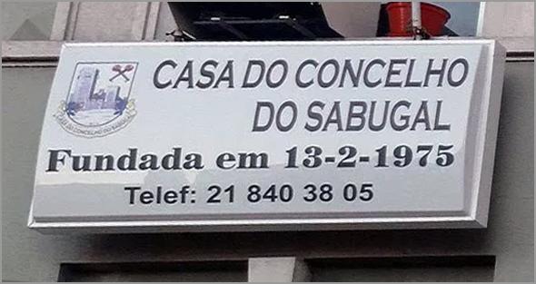 Casa do Concelho do Sabugal em Lisboa - Placa Luminosa - Capeia Arraiana
